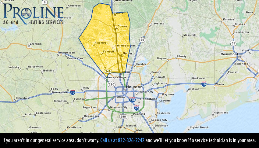 northwest houston ac repair service map